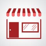 Storefront icon. Illustration of  storefront icon Royalty Free Stock Image