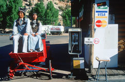 Storefront Indians at a country store, East Zion, UT Royalty Free Stock Photo