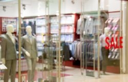 Storefront of men's clothing shop Royalty Free Stock Images
