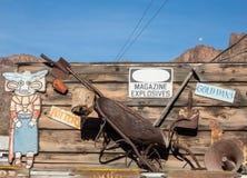 Storefront sign, Oatman, Arizona. Oatman, Arizona, graphic storefront signage Royalty Free Stock Photos