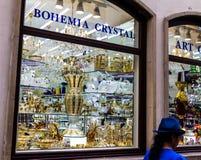 Storefront van de Boheemse glaswinkel Royalty-vrije Stock Afbeelding