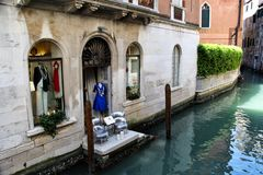 Storefront on the Venice Canal Stock Photography