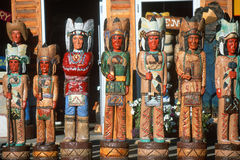 Storefront wooden Indians Stock Photos