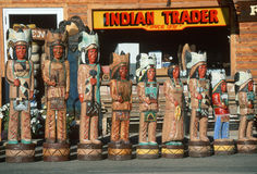 Storefront wooden Indians Royalty Free Stock Photos