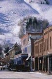 Storefronts in Aspen Stock Image