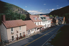 Storefronts in Harpers Ferry Royalty Free Stock Photo