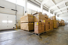 Storehouse boxes Stock Photo