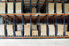 Storehouse boxes Stock Image