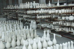 Storehouse of the ceramics Royalty Free Stock Image