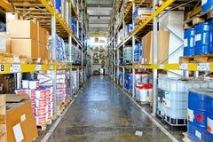 Storehouse corridor Stock Photos