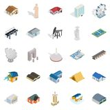 Storehouse icons set, isometric style. Storehouse icons set. Isometric set of 25 storehouse vector icons for web isolated on white background Royalty Free Stock Photo