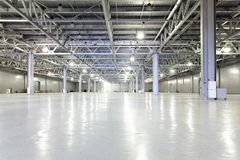 Storehouse. Interior of big empty storehouse Royalty Free Stock Images