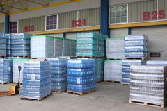 Storehouse of mineral water Stock Image