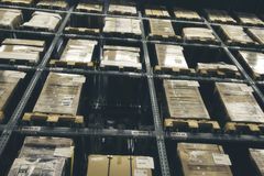 Storehouse or modern warehouse exterior Royalty Free Stock Images