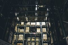 Storehouse or modern warehouse exterior with vintage tone Royalty Free Stock Photography