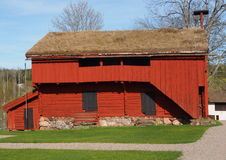 Storehouse. An old red swedish store house at Siggebohyttan, Bergslagen, Sweden Royalty Free Stock Image