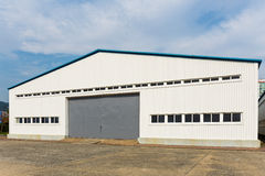 Storehouse. Single Storehouse with clear blue sky Royalty Free Stock Photography