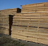 A storehouse of wood and planks Stock Photography