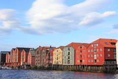 Storehouses in Trondheim Stock Photo