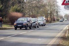 storen för krasch för bilbilsammanstötning har huvudvägen iced hastighet Royaltyfria Bilder