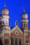 storen pilsen synagogan Arkivfoto