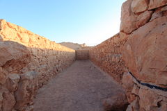 Storeroom on the Top of Masada Fortress Stock Photography