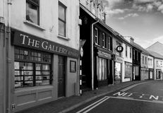 Stores in black and white Stock Photos