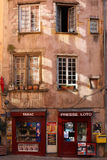 Stores in Lyon historic district Royalty Free Stock Image