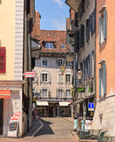Stores in the old town of Solothurn, Switzerland Royalty Free Stock Photo