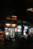 Stores are opened in the evening in Hanoi (Vietnam) Royalty Free Stock Photo