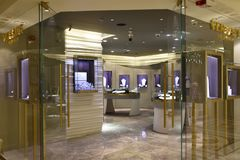 Stores at Palazzo Versace in Dubai, UAE royalty free stock photography