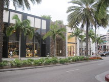 Stores at Rodeo Drive Royalty Free Stock Photography