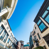 Stores in Rodeo Drive. California Royalty Free Stock Photo