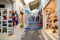 Stores in Santorini Royalty Free Stock Photos