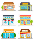 Stores and shops buildings. Stock Image