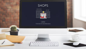 Stores Shops Business Opportunity Investment Concept.  Stock Photography