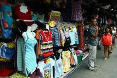 Stores by a street in Antipolo city in philippines Stock Images