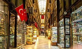 Stores with turkish flags Royalty Free Stock Photo