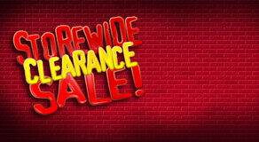 Storewide Clearance Sale Brick Royalty Free Stock Images