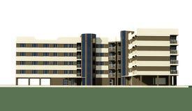 5 storey block Stock Image