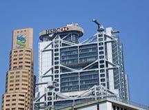 Storfinans i Hong Kong Arkivbild
