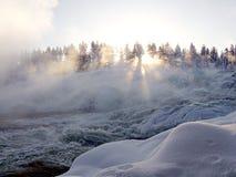 Storforsen, самый большой водопад в Швеции Стоковое Изображение RF