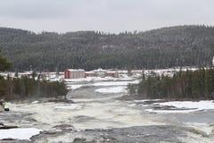 Storforsen dans Norrbotten Photographie stock