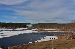 Storforsen dans Norrbotten Photographie stock libre de droits