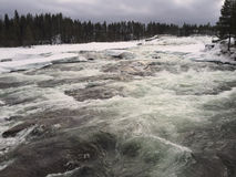 Storforsen en invierno Imagen de archivo