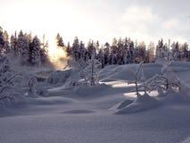 Storforsen, größter Wasserfall in Schweden Lizenzfreies Stockfoto