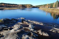 Storforsen Norrbotten Photo libre de droits