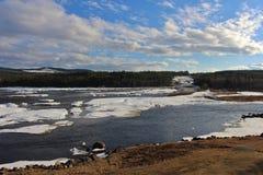 Storforsen in Norrbotten Stockfoto