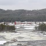 Storforsen in Norrbotten Stock Image