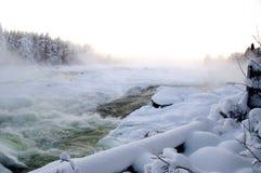Storforsen w zimie Zdjęcie Stock